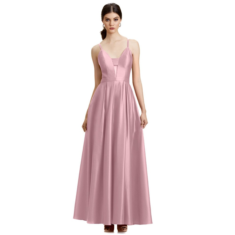 96c2237a2 Charlize vestido largo escote V espalda descubierta