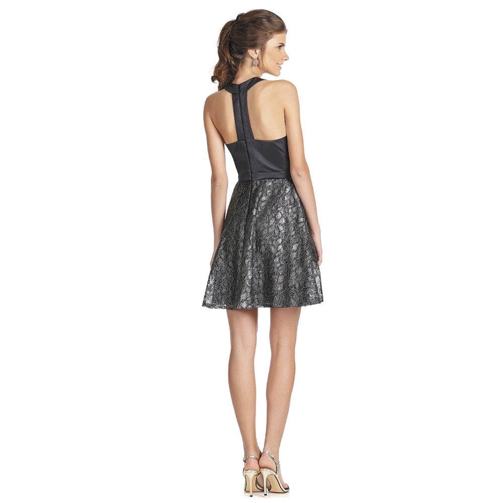 ffff9532 Elizabeth vestido corto detalle transparencia en cintura   Eva Brazzi