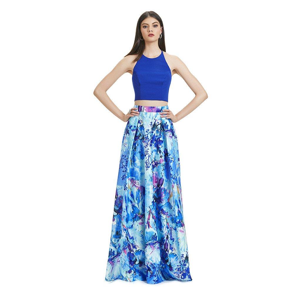 c3b3077c9e Indira vestido largo crop top halter