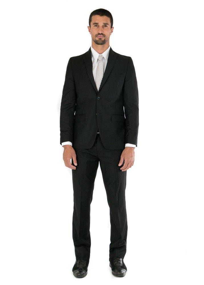 Traje de caballero Slim Fit Negro Forro Liso 74d41424a3b
