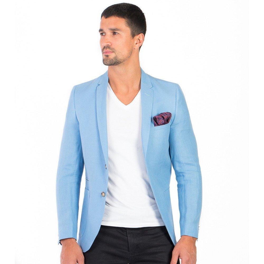a3914437f97e1 Saco de Caballero Slim Fit Azul Cielo