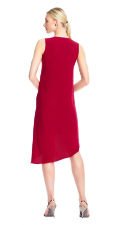 Asymmetrical front drape dress