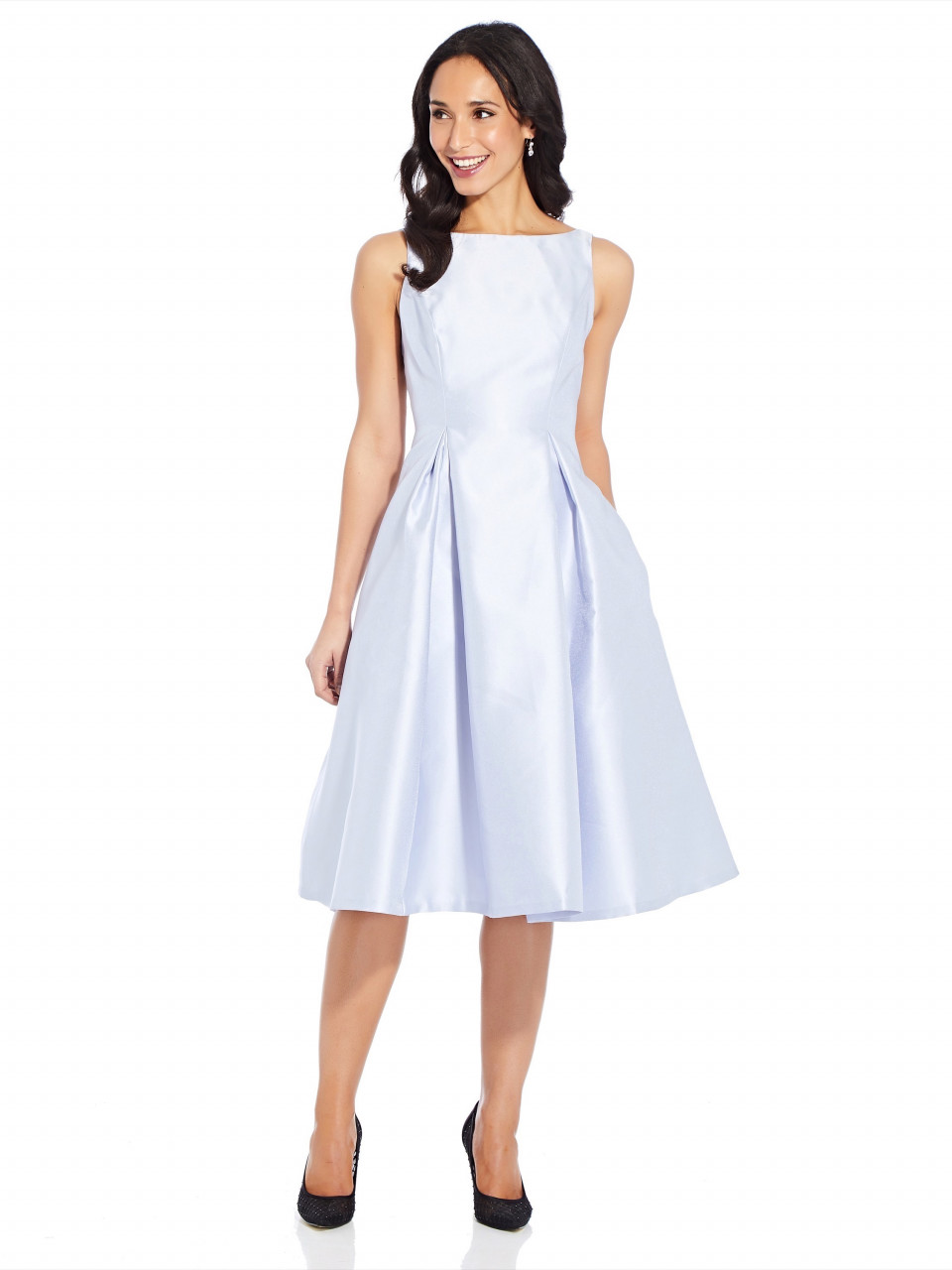 Sleeveless tea length dress