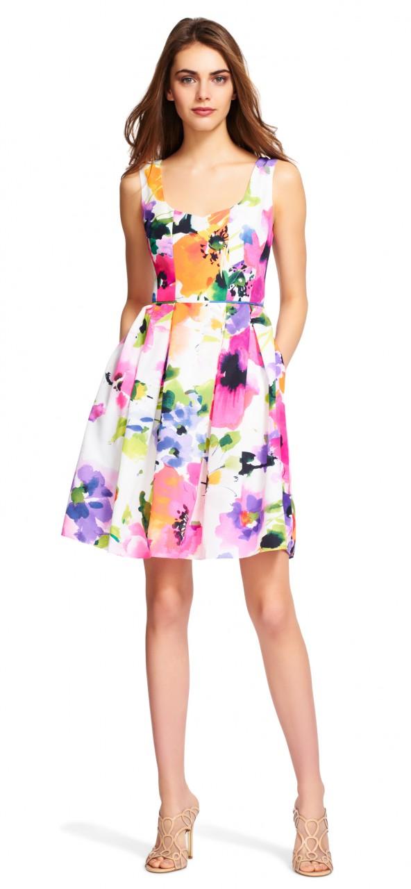 Vestido floral corte tubo