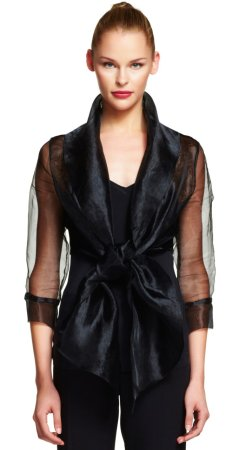 Orgnza wrap jacket