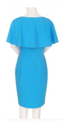Knit crop sheath dress with shoulder capelet