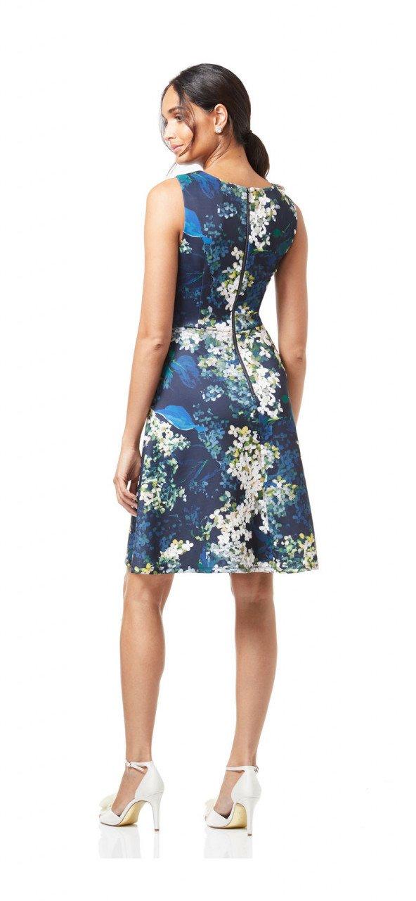 Vestido azul hortensia