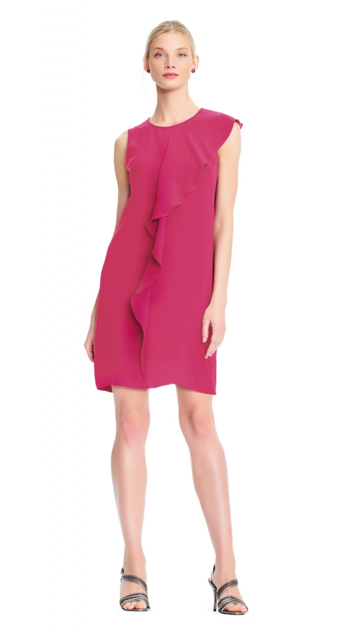 Gauzy crepe shift dress