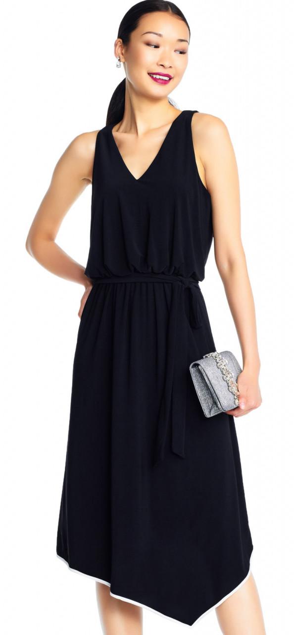 Vestido Midi sin mangas asimetrico con punta