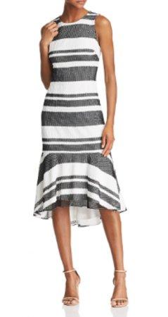 Striped kang kang trumpet dress