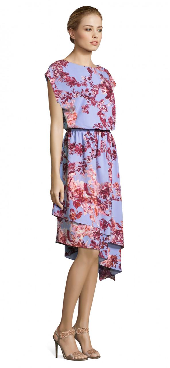 Vestido barroco estampado floral