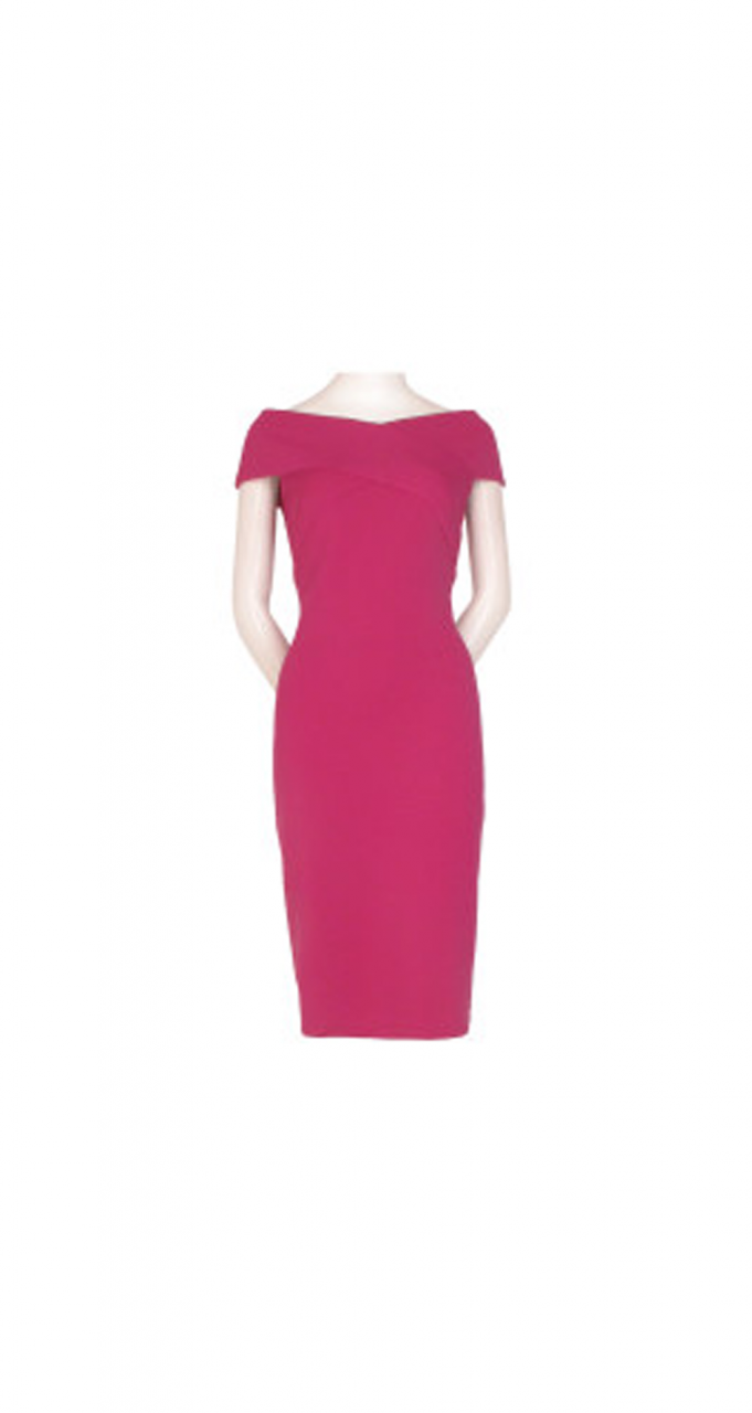 Daphne ottoman sheath dress
