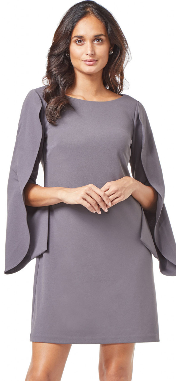 vestido de cambray con manga larga de origami