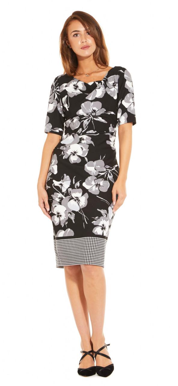 Vestido tejido con estampado floral
