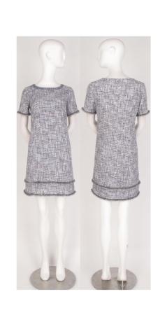 Pastel boucle shift dress