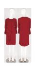 Fancy crepe cascading drape dress