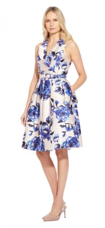 Geranium printed shirtdress