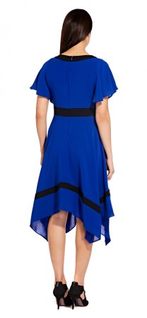 Gauzy crepe hanky hem dress