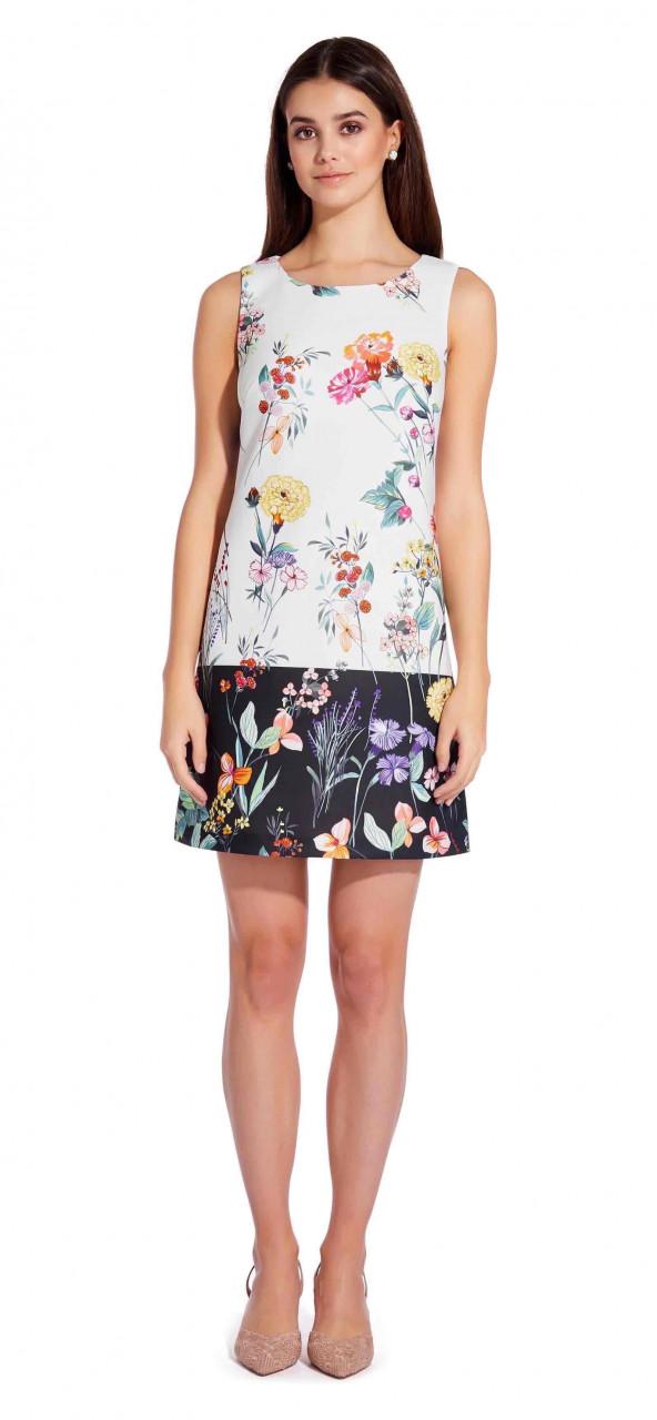 Garden boarder shift dress