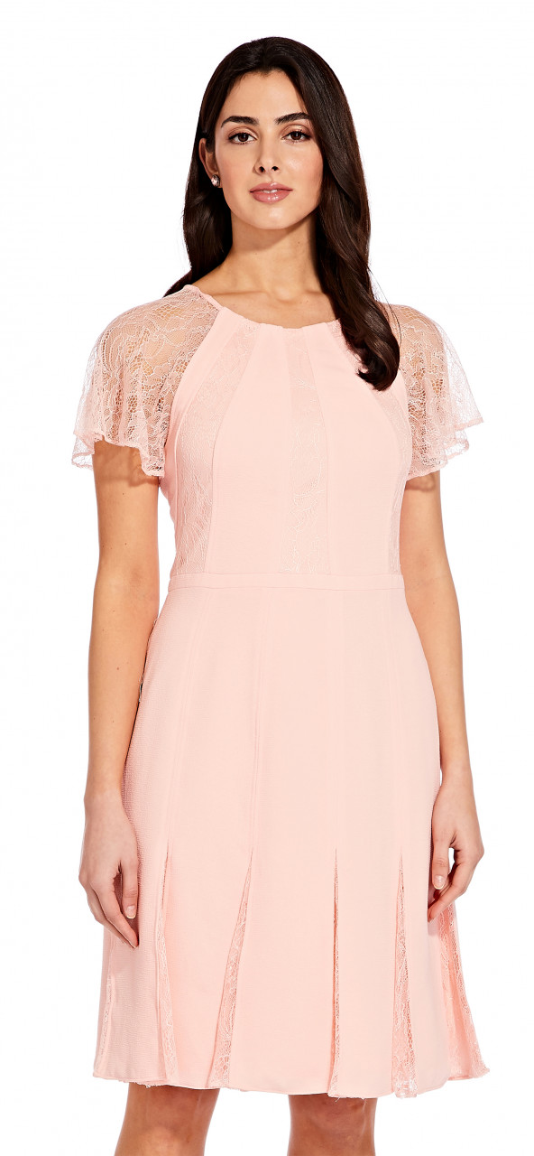 Cameron woven and lace dress