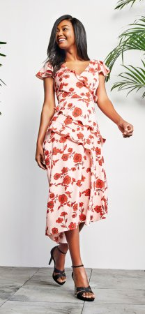 Living blooms ruffle fit and flare