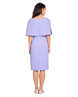 Boat neck cape sheath dress