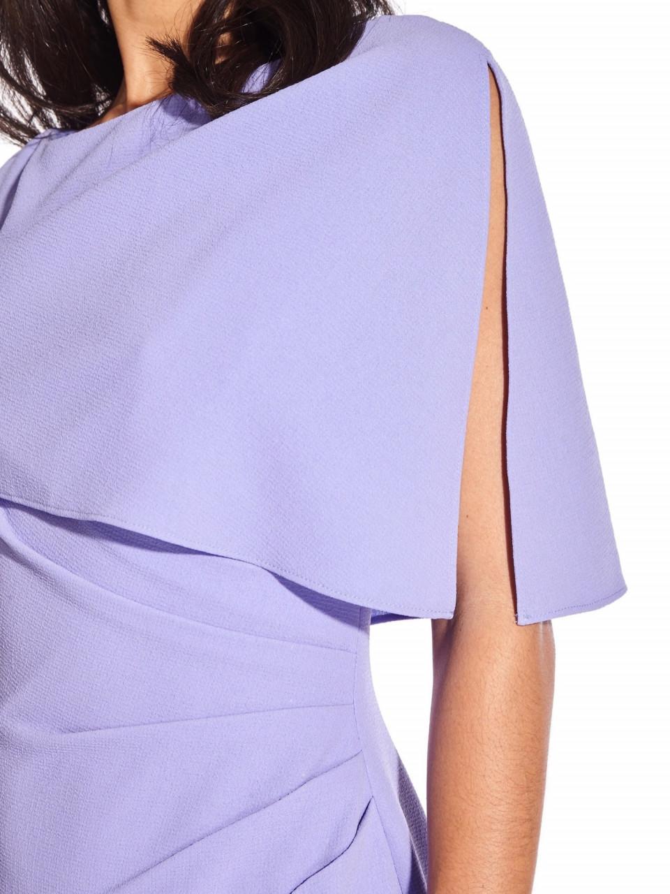 Boat neck cape sheath dress