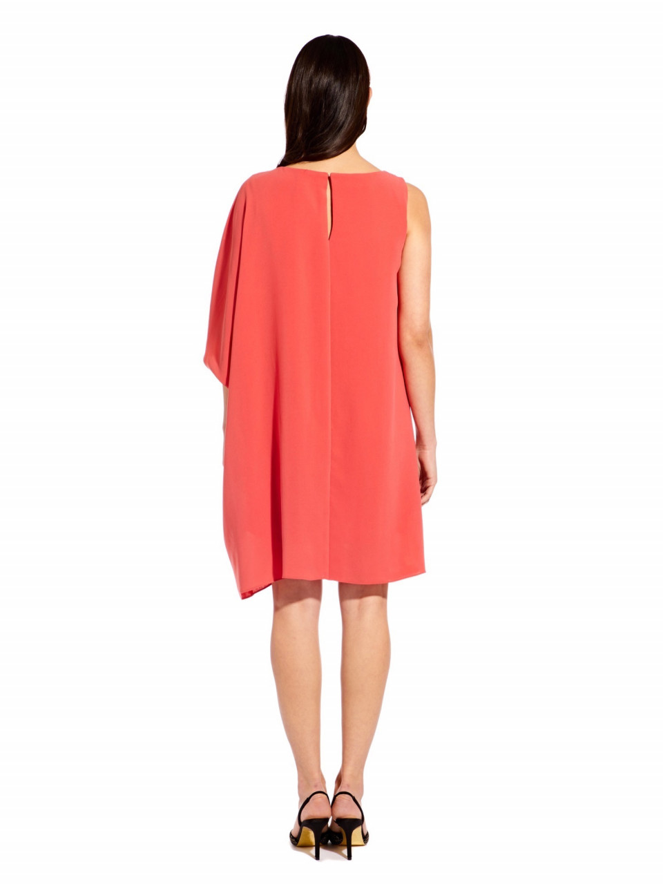Gauzy crepe caftan dress
