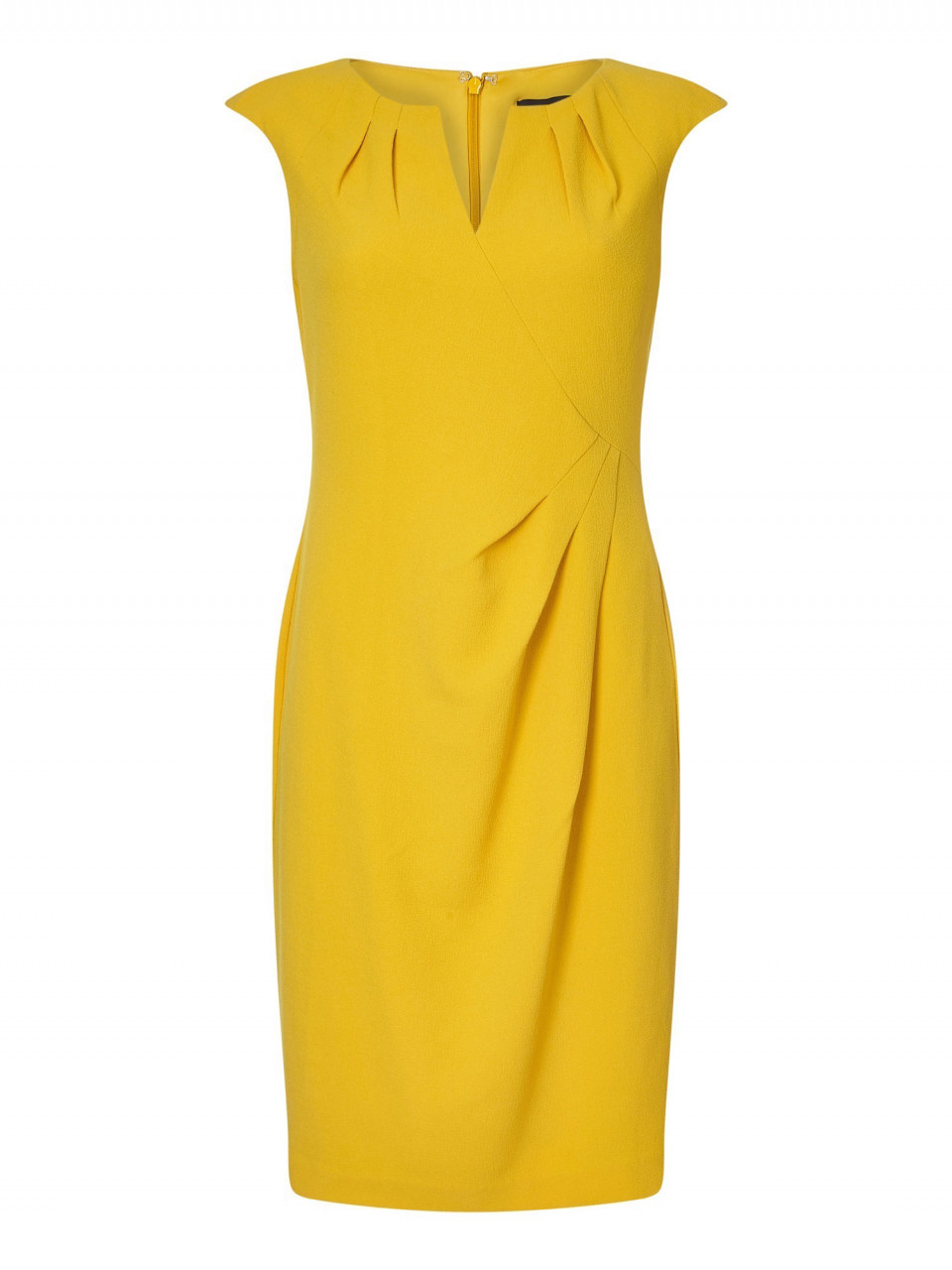 Split neck side drape sheath