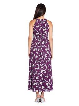 Botanical halter maxi dress