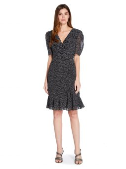 Darling dot shirred dress