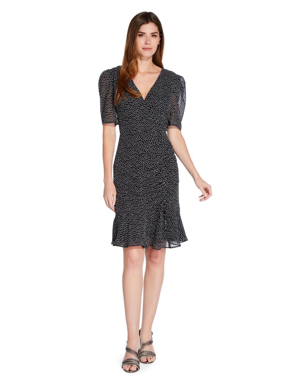 Darling dot shirred dress