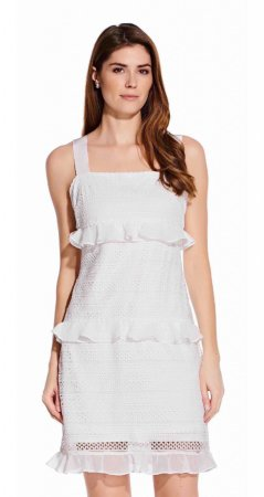 Tiered ruffle a-line dress