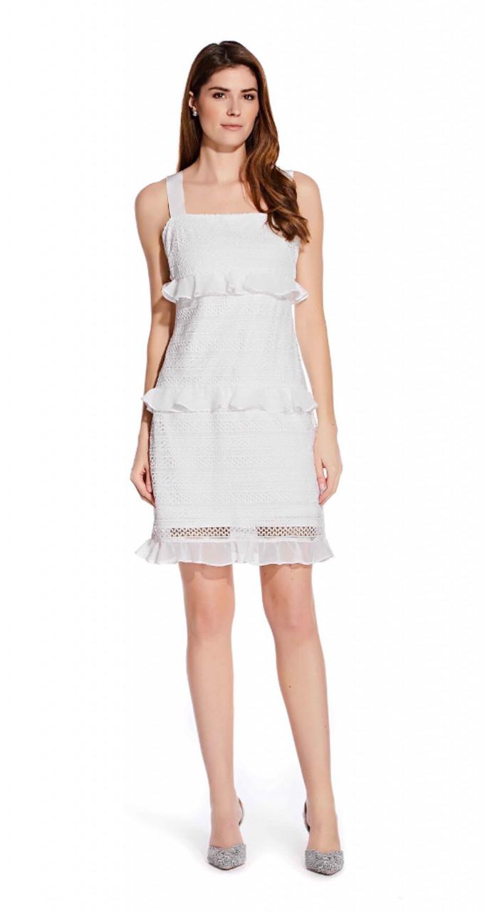 Tiered ruffle a-line dress