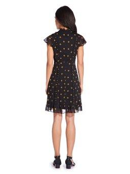 Daisy dot ruffled a line dress
