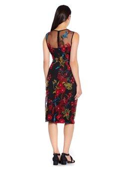 Dancing garden sheath dress