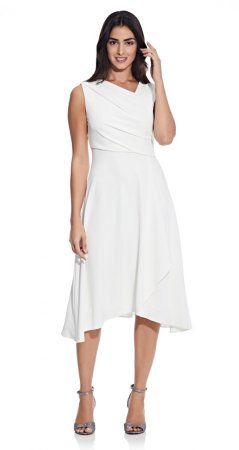 Soft draped A-line dress