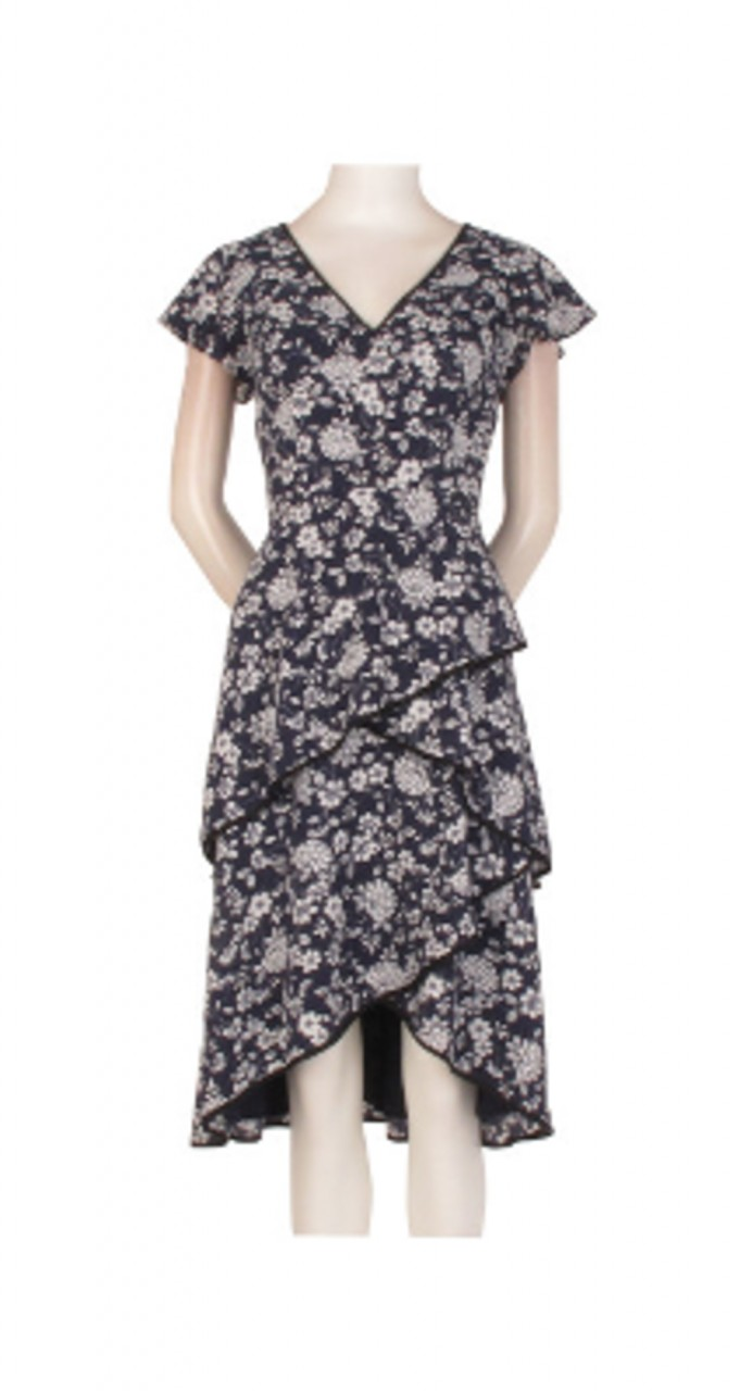 Ditsy petunia tiered dress