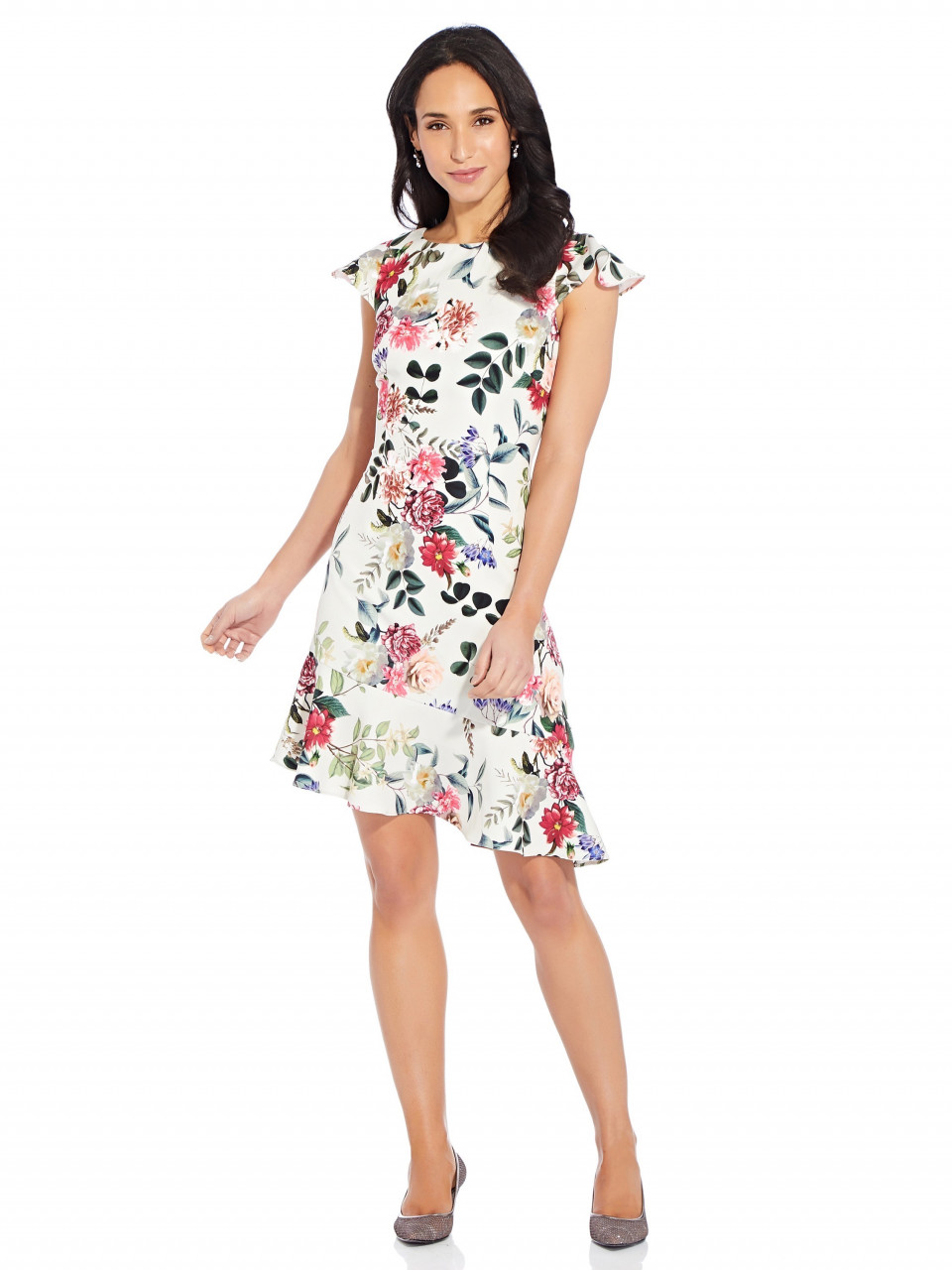 Parisian garden flounce dress