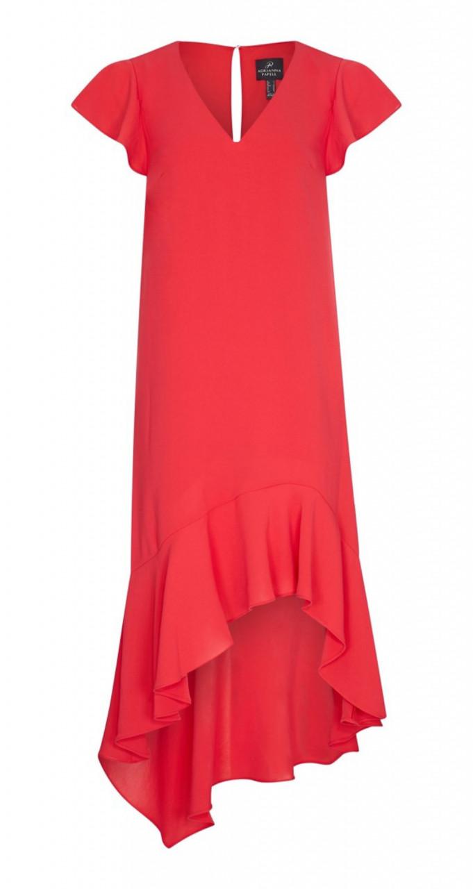 Gauzy crepe high low dress