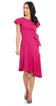 Divine crepe draped tie dress