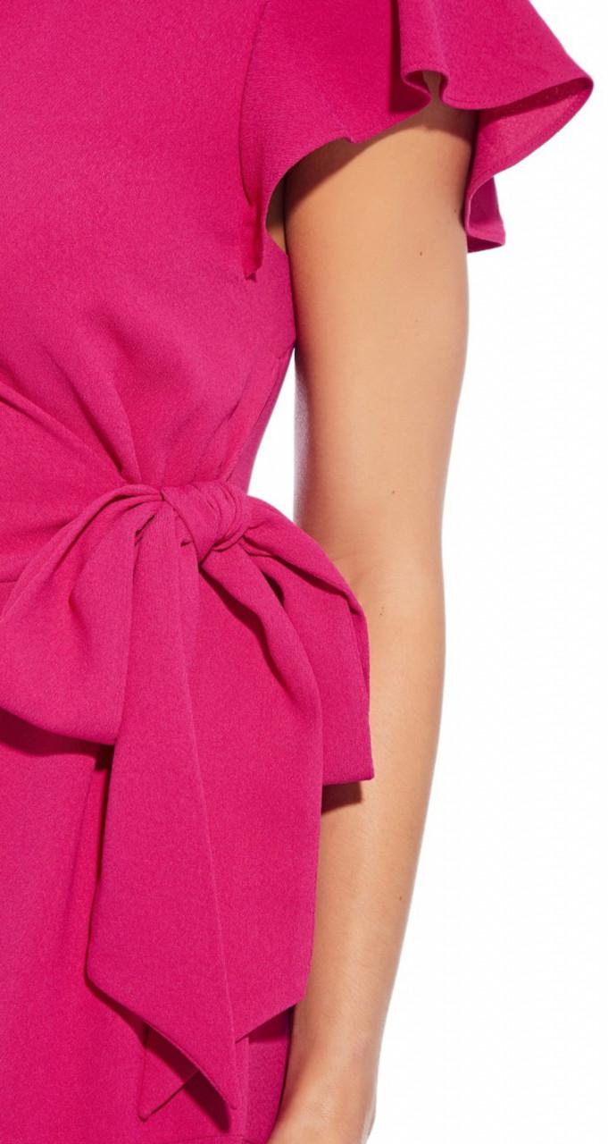 Divine crepe draped tie dress