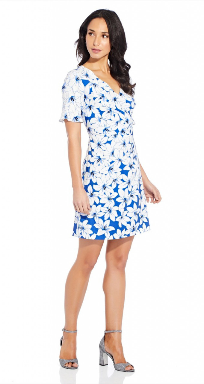 Graphic lily a-line dress