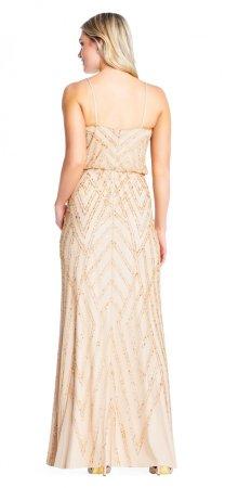Sleeveless blouson beaded gown