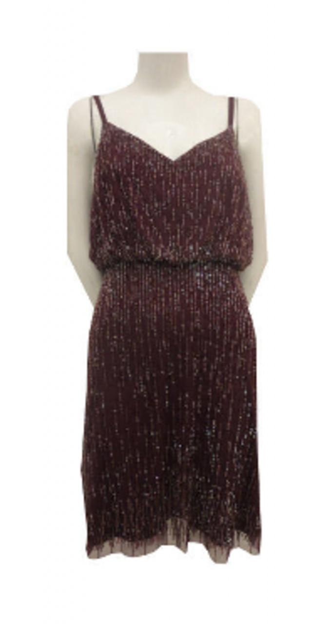 Strap cocktail with fringe dress