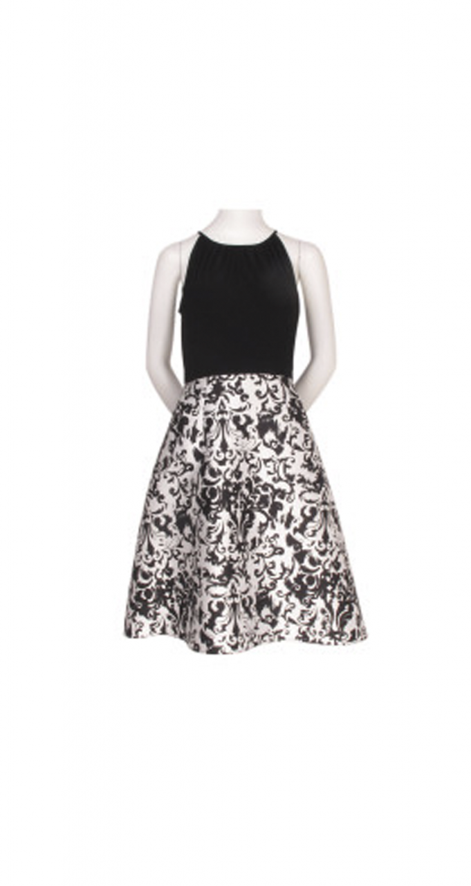 Jersey and mikado party dress