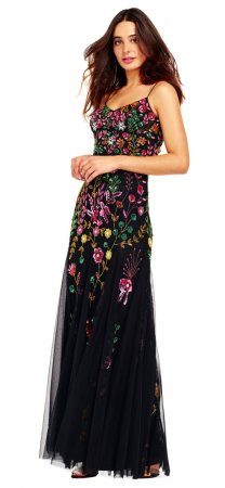 Vestido Godet con estampado de flores