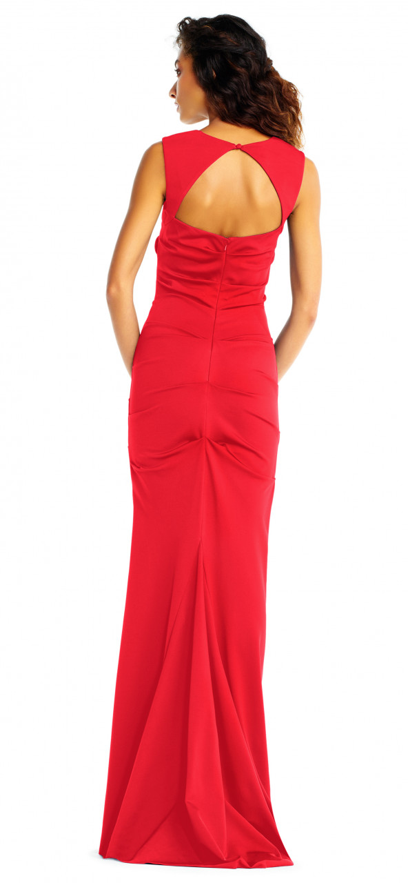 Jersey sleeveless gown