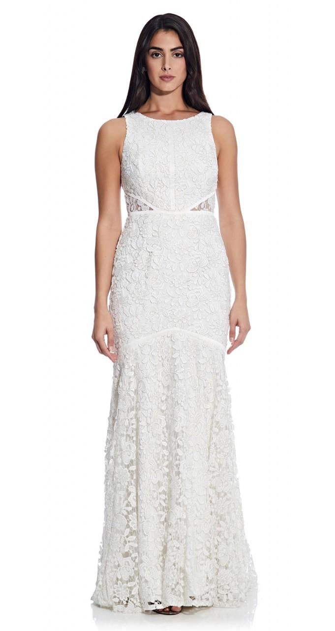 Bridal halter gown