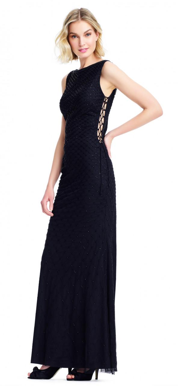 Vestido largo con detalle al costado